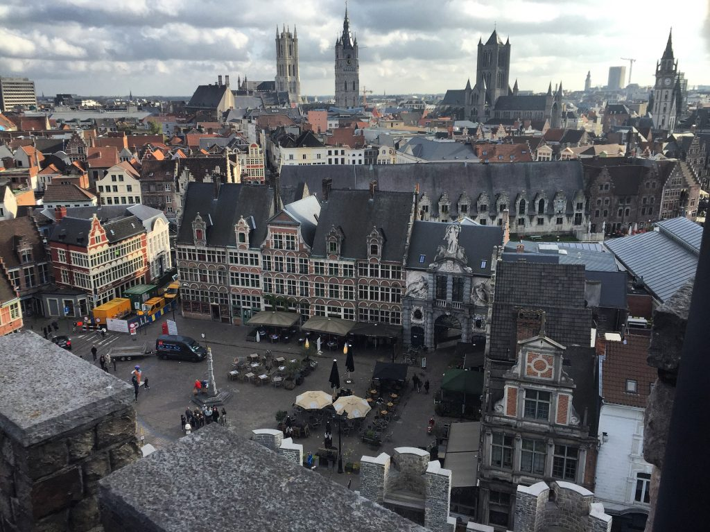 Gent viewed from the castle
