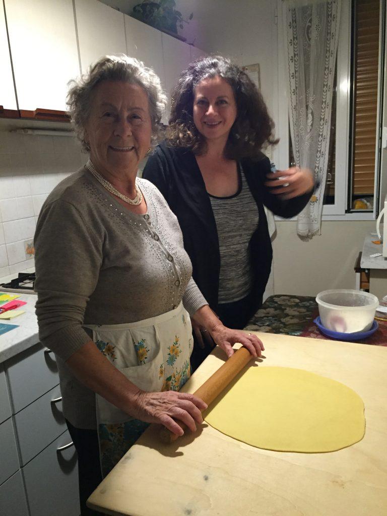 Rina making pasta